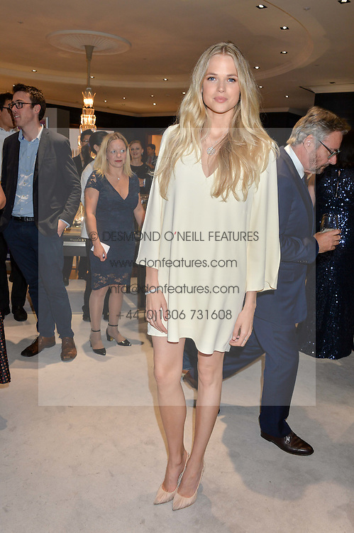 GABRIELLA WILDE at a party to celebrate the opening of Mappin & Webb's Flagship Regent Street Boutique at 132 Regent Street, London on 28th June 2016.