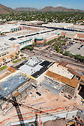 26 AUGUST 2005 - Construction at the Scottsdale Riverfront redevelopment project. Looking into Fashion Square Mall in Scottsdale. Jay Kelso is operating the crane, which is about 300 feet above the base of the excavation. PHOTO BY JACK KURTZ