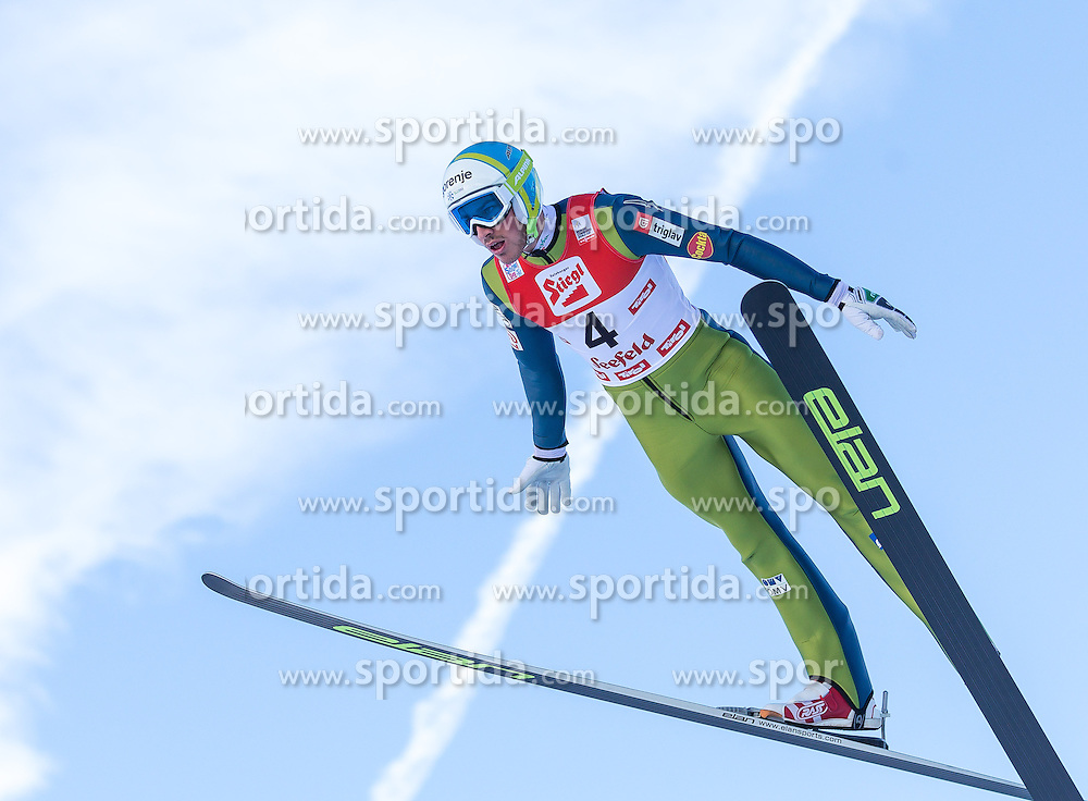 19.01.2013, Casino Arena, Seefeld, AUT, FIS Nordische Kombination, Skisprung, Probedurchgang, im Bild Casper Beriot (SLO) // Casper Beriot of Slovenia  during the Trial Round of Ski Jumping at FIS Nordic Combined World Cup in Sefeld, Austria on 2013/01/19. EXPA Pictures © 2013, PhotoCredit: EXPA/ Peter Rinderer