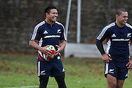 Keven Mealamu of the All Blacks. The New Zealand rugby team training at  Sophia Gardens in Cardiff ahead of the Match against Wales..pic by Andrew Orchard, Andrew Orchard sports photography.