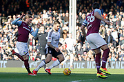 Fulham forward Aleksandar Mitrovic (32) looks to attack the goal during the EFL Sky Bet Championship match between Fulham and Aston Villa at Craven Cottage, London, England on 17 February 2018. Picture by Andy Walter.