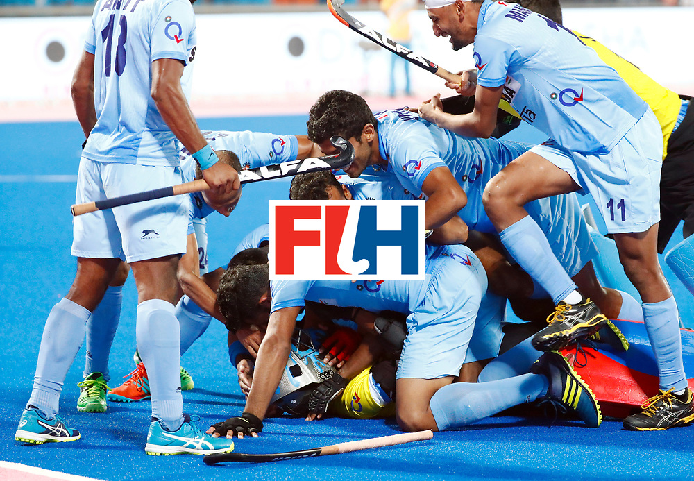 Odisha Men's Hockey World League Final Bhubaneswar 2017<br /> Match id:13<br /> Belgium v India<br /> Foto: Shoot Out<br /> India wins the Shoot Out<br /> COPYRIGHT WORLDSPORTPICS KOEN SUYK