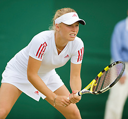 LONDON, ENGLAND - Monday, June 29, 2009: Caroline Wozniacki (DEN) during the Ladies' Singles 4th Round match on day seven of the Wimbledon Lawn Tennis Championships at the All England Lawn Tennis and Croquet Club. (Pic by David Rawcliffe/Propaganda)