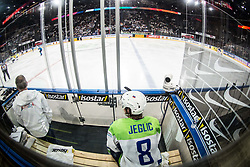 Ziga Jeglic of Slovenia in penalty box during the 2017 IIHF Men's World Championship group B Ice hockey match between National Teams of Finland and Slovenia, on May 10, 2017 in AccorHotels Arena in Paris, France. Photo by Vid Ponikvar / Sportida