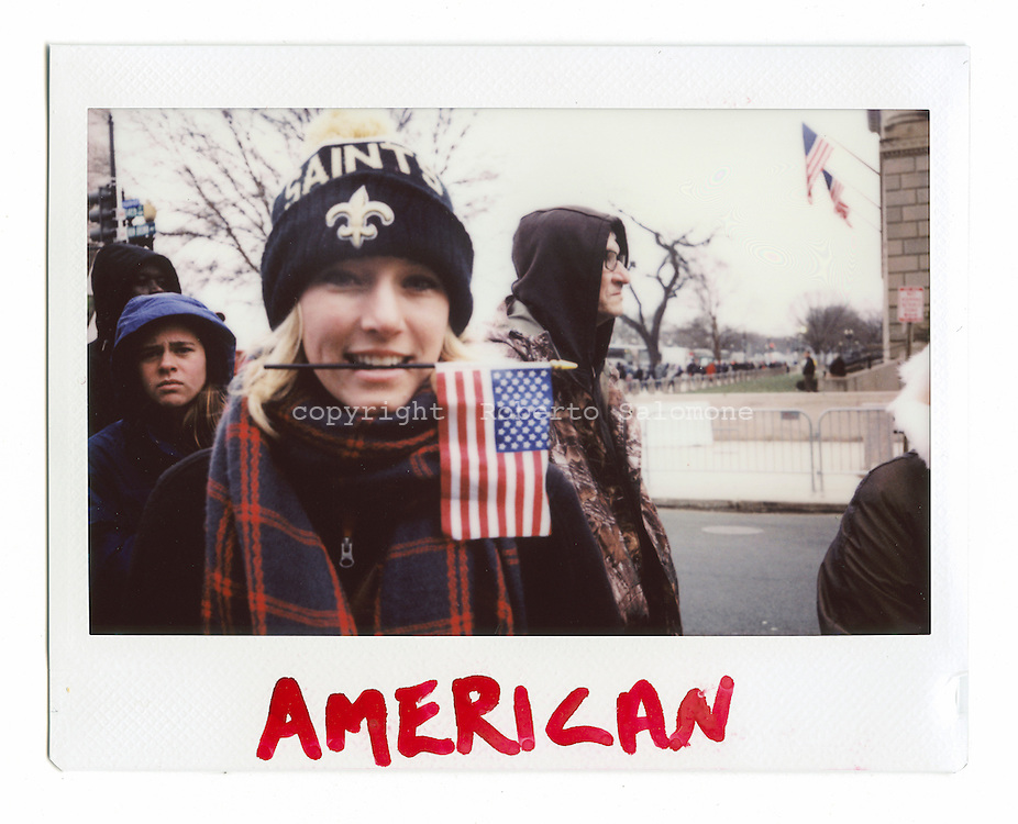 Washington D.C. - Inauguration Day - Lauren says that Donald Trump is the real american man and will make the best for his country.<br /> Ph. Roberto Salomone