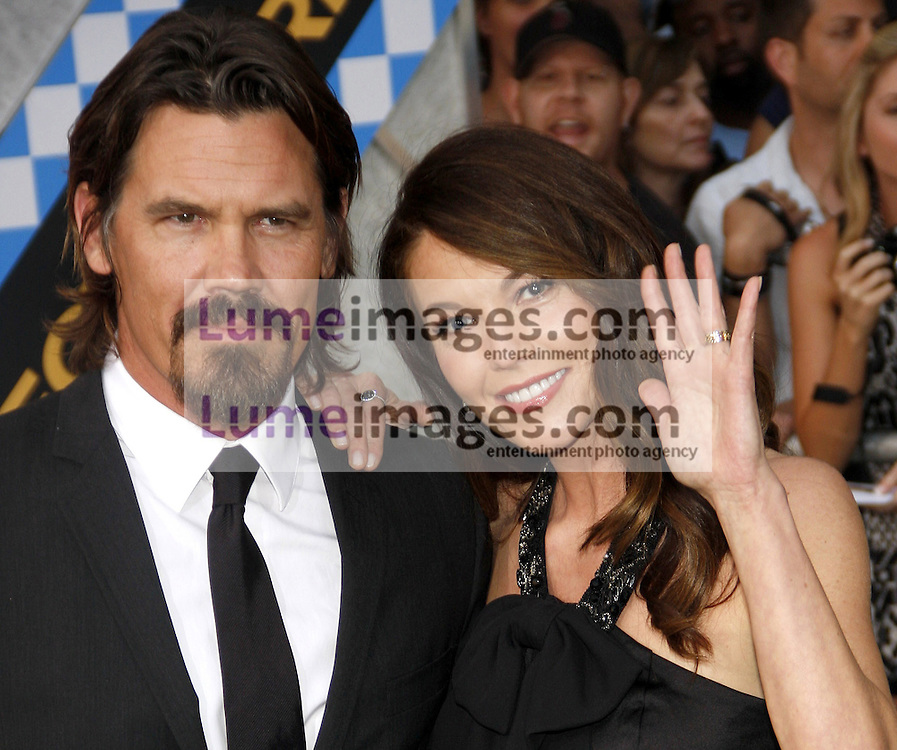 HOLLYWOOD, CA - SEPTEMBER 30, 2010: Diane Lane and Josh Brolin at the Los Angeles premiere of 'Secretariat' held at the El Capitan Theater in Hollywood, USA on September 30, 2010.