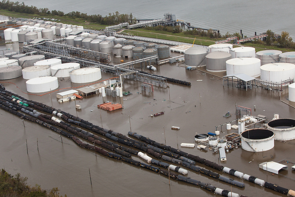 August 31 Braitwaite Louisiana,  Arial view of damages at the  Stolhaven Chemical plant, damaged by Isaac's surge releases an undetermined amount of hazardous and toxic chemicals. Residents in a 1/2 radius have been unable to return to there home to check the storm damage due to a mandatory evacuation order.