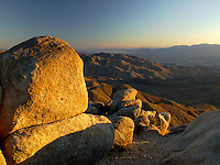 Keys View at Sunset, Joshua Tree National Park, California