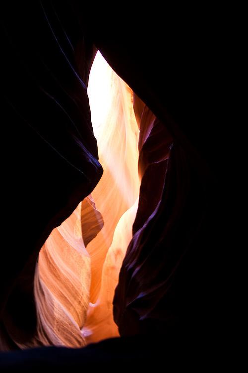 Positive and Negative Space Inside Antelope Slot Canyon, AZ