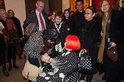 DR. JUDY COLLINS; FRANCES MORRIS;  YAHOI KUSAMA;  , Yayoi Kusama opening. Tate Modern. London. 7 February 2012