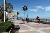 Promenade, paseo maritimo, Mediterranean, Mediterraneo, Estepona, Malaga, Andalucia, Andalusia, Spain, Espana, Costa del Sol, tourism, travel, holidays, 201302201105..Copyright Image from Victor Patterson, 54 Dorchester Park, Belfast, UK, BT9 6RJ..Tel: +44 28 9066 1296.Mob: +44 7802 353836.Voicemail +44 20 8816 7153.Skype: victorpattersonbelfast.Email: victorpatterson@me.com.Email: victorpatterson@ireland.com (back-up)..IMPORTANT: If you wish to use this image or any other of my images please go to www.victorpatterson.com and click on the Terms & Conditions. Then contact me by email or phone with the reference number(s) of the image(s) concerned.