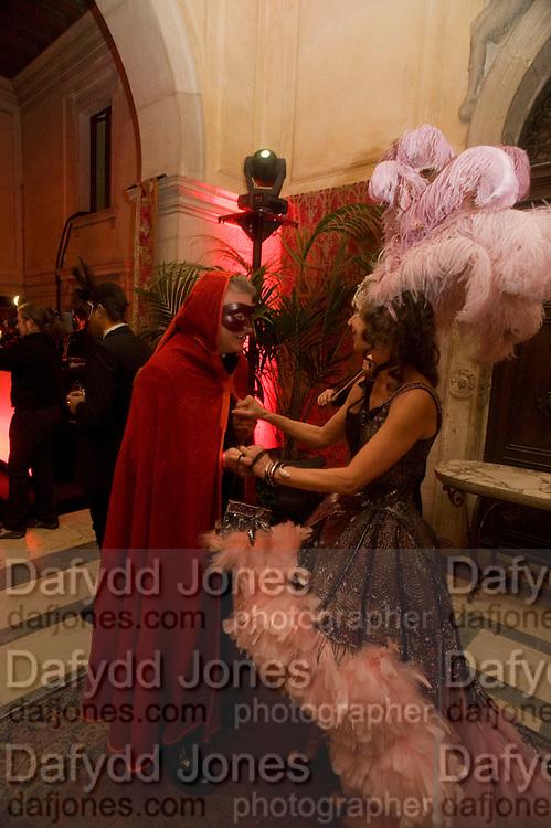 GUIDO TORLONIA; Francesca Bortolotto Possati-. Francesca Bortolotto Possati, Alessandro and Olimpia host Carnevale 2009. Venetian Red Passion. Palazzo Mocenigo. Venice. February 14 2009.  *** Local Caption *** -DO NOT ARCHIVE -Copyright Photograph by Dafydd Jones. 248 Clapham Rd. London SW9 0PZ. Tel 0207 820 0771. www.dafjones.com<br /> GUIDO TORLONIA; Francesca Bortolotto Possati-. Francesca Bortolotto Possati, Alessandro and Olimpia host Carnevale 2009. Venetian Red Passion. Palazzo Mocenigo. Venice. February 14 2009.