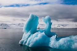 Blue ice berg, ,Svalbard, Norway