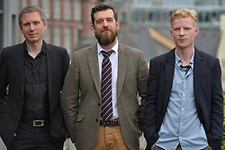 2016 Edinburgh International Film Festival, (left to right) Alex Kapranos (Franz Ferdinand)Stewart Henderson (Chemical Underground/The Delgados), Niall McCann (Director) during the WORLD PREMIERE (DOCUMENTARY) LOST IN FRANCE, The Apex Hotel Grassmarket, Edinburgh16th June 2016, (c) Brian Anderson | Edinburgh Elite media<br /> <br /> Niall McCann (Director) <br /> Alex Kapranos (Musician)<br /> Emma Pollock (Musician)<br /> Paul Savage (Musician)<br /> Stewart Henderson (Musician)<br /> David Sosson (Musician)