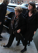 MARILYN O''CONNER, mother of actor Philip Seymour Hoffman arrives to the Frank E. Campbell Funeral Home on the Upper East Side.  Hoffman died of a suspected heroin overdose on February 2. <br /> ©exclusivepix