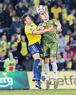 FODBOLD: Mikael Uhre (Brøndby IF) og Victor Nelsson (FC Nordsjælland) under kampen i Superligaen mellem Brøndby IF og FC Nordsjælland den 13. maj 2019 på Brøndby Stadion. Foto: Claus Birch.
