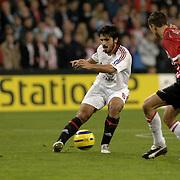 NLD/Eindhoven/20051101 - CHampions League PSV - AC Milan, Gennaro Gattuso (8) en Ibrahim Affalay