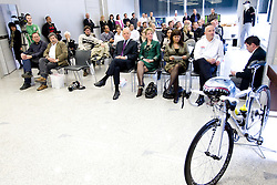 Herman Rigelnik, Sonja Gole, Mojca Novak and Bogdan Fink at press conference of Pro Cycling Team Adria Mobil Novo mesto before new season, on March 8, 2011 at ACH, Ljubljana, Slovenia. (Photo By Vid Ponikvar / Sportida.com)