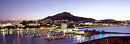 Panorama view of Townsville, Castle Hill and Breakwater Marina, Queensland, Australia.