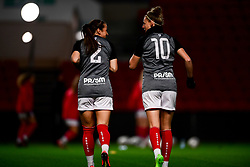 Megan Wynne and Yana Daniels of Bristol City wearing Prism Printing warm up tops - Mandatory by-line: Ryan Hiscott/JMP - 17/02/2020 - FOOTBALL - Ashton Gate Stadium - Bristol, England - Bristol City Women v Everton Women - Women's FA Cup fifth round