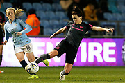 Everton midfielder Angharad James (12) during the FA Women's Super League match between Manchester City Women and Everton Women at the Sport City Academy Stadium, Manchester, United Kingdom on 20 February 2019.