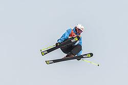 February 18, 2018 - Pyeongchang, Gangwon, South Korea - Jonas Hunziker of Switzerland competing in slope style for men at phoenix park, Pyeongchang,  South Korea on Febuary 18, 2019. (Credit Image: © Ulrik Pedersen/NurPhoto via ZUMA Press)