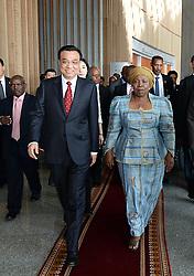 ADDIS ABABA, May 5, 2014  Chinese Premier Li Keqiang (L) meets with African Union Commission chairperson Nkosazana Clarice Dlamini Zuma at the headquarters of the African Union (AU) in Addis Ababa, Ethiopia, May 5, 2014. (Credit Image: © Li Tao/Xinhua/ZUMAPRESS.com)