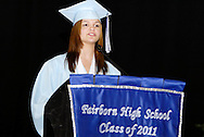 Christina Hebert delivers the farewell remarks during the Fairborn High School commencement at the Nutter Center in Fairborn, Friday, May 27, 2010.