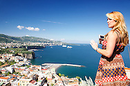 Vicktoria Grimmy, Sorrento Italy. Victoria capturing an image of a great view of the Mediterranean Sea