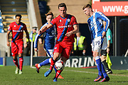 Rochdale defender Harrison McGahey blocks a pass from Chesterfield midfielder Dion Donohue during the EFL Sky Bet League 1 match between Chesterfield and Rochdale at the Proact stadium, Chesterfield, England on 25 March 2017. Photo by Aaron  Lupton.