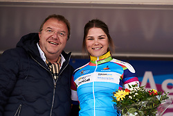 Amber van der Hulste (NED) wins the best club rider jersey at Healthy Ageing Tour 2019 - Stage 5, a 124.3 km road race in Midwolda, Netherlands on April 14, 2019. Photo by Sean Robinson/velofocus.com