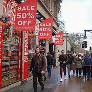 London, UK, 22nd Dec 2017. Festive shoppers looking for bargain on London Oxford Street sale as Christmas day approaches