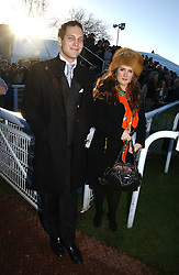 LORD FREDDIE WINDSOR and SOPHIE EDELSTEIN at the 50th running of the Hennessy Gold Cup at Newbury Racecourse, Berkshire on 25th November 2006.<br /><br />NON EXCLUSIVE - WORLD RIGHTS