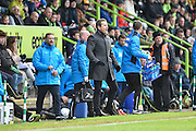 Forest Green Rovers manager, Mark Cooper during the Vanarama National League match between Forest Green Rovers and Lincoln City at the New Lawn, Forest Green, United Kingdom on 19 November 2016. Photo by Adam Rivers.