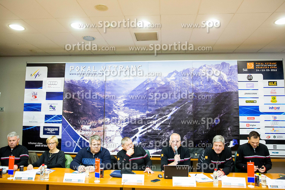 Organisers during press conference of FIS Alpine Ski World Cup Vitranc Cup 2015, on March 6, 2015 in Ljubljana, Slovenia. Photo by Vid Ponikvar / Sportida
