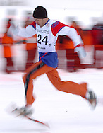 n/z.: Sportowiec Mohammad Alhajeri - Olimpiady Specjalne Igrzyska Zimowe podczas zawodow w Olympic Sports Park w Nozawaonsen - Japonia , Nagano , 28-02-2005 , fot.: Adam Nurkiewicz / mediasport..Athlete Mohammad Alhajeri - Special Olympics Winter Games during snowshoeing competition at Olympic Sports Park in Nozawaonsen - February 28, 2005 , Japan , Nagano ( Photo by Adam Nurkiewicz / mediasport )