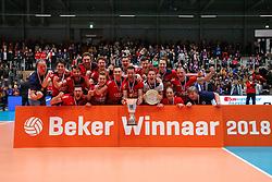 20180218 NED: Bekerfinale SV Land Taurus - Abiant Lycurgus, Hoogeveen <br />SV Land Taurus wint de Nationale Beker 2017-2018<br />&copy;2018-FotoHoogendoorn.nl