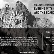 American Alpine Club Invitation, Black and white of Eldorado Springs State Park