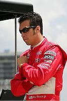 Sam Hornish Jr. at the Texas Motor Speedway, Bombardier Learjet 500, June 11, 2005