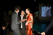 PAUL ANDERSON; CHRIS BRENNER; MILLA JOVAVICH;; Rodarte Poolside party to show their latest collection. Hosted by Kate and Laura Muleavy, Alex de Betak and Katherine Ross.  Chateau Marmont. West  Sunset  Boulevard. Los Angeles. 21 February 2009 *** Local Caption *** -DO NOT ARCHIVE -Copyright Photograph by Dafydd Jones. 248 Clapham Rd. London SW9 0PZ. Tel 0207 820 0771. www.dafjones.com<br /> PAUL ANDERSON; CHRIS BRENNER; MILLA JOVAVICH;; Rodarte Poolside party to show their latest collection. Hosted by Kate and Laura Muleavy, Alex de Betak and Katherine Ross.  Chateau Marmont. West  Sunset  Boulevard. Los Angeles. 21 February 2009