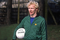 Derek Spence, footballer, international, N Ireland, 19820223014DS2. He was training with N Ireland team in St Albans for their match against England at Wembley<br /> <br /> Copyright Image from Victor Patterson, 54 Dorchester Park, Belfast, UK, BT9 6RJ<br /> <br /> t: +44 28 90661296<br /> m: +44 7802 353836<br /> vm: +44 20 88167153<br /> e1: victorpatterson@me.com<br /> e2: victorpatterson@gmail.com<br /> <br /> For my Terms and Conditions of Use go to www.victorpatterson.com