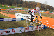 CZECH REPUBLIC / TABOR / WORLD CUP / CYCLING / WIELRENNEN / CYCLISME / CYCLOCROSS / VELDRIJDEN / WERELDBEKER / WORLD CUP / COUPE DU MONDE / #2 / SWISS CYCLIST JUMPS OVER THE HURDLE /