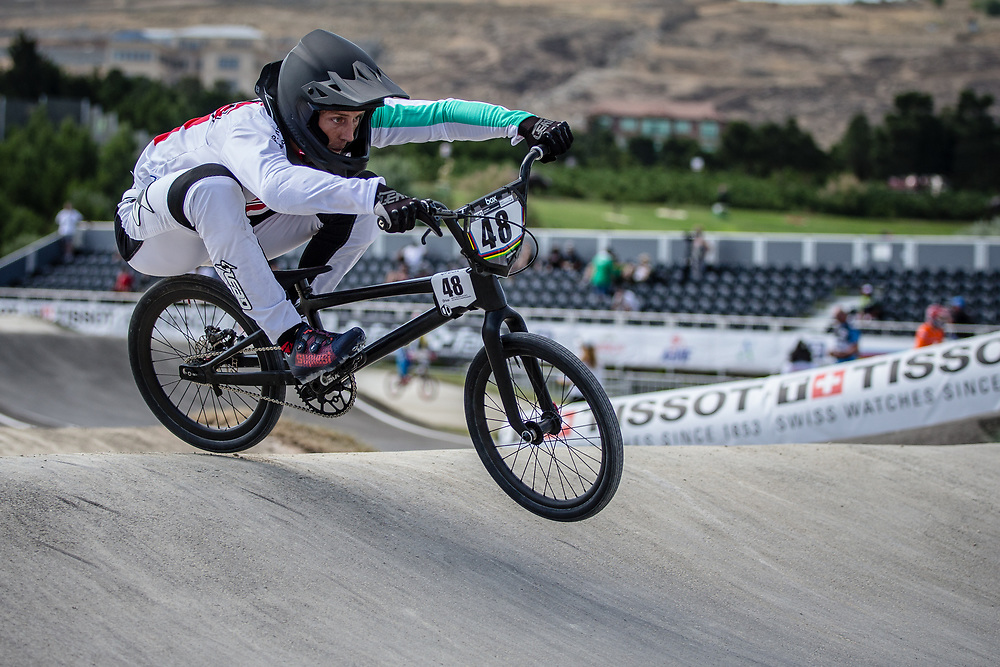 Men Elite #48 (GRAF David) SUI the 2018 UCI BMX World Championships in Baku, Azerbaijan.