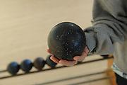 Candlepin bowling ball. Fitchburg, Massachusetts