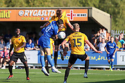 AFC Wimbledon midfielder Anthony Wordsworth (40) battles for possession during the EFL Sky Bet League 1 match between AFC Wimbledon and Bristol Rovers at the Cherry Red Records Stadium, Kingston, England on 21 September 2019.