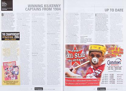 All Ireland Senior Hurling Championship Final,.03.09.2006, 09.03.2006, 3rd September 2006,.Senior Kilkenny 1-16, Cork 1-13,.Minor Tipperary 2-18, Galway 2-7.3092006AISHCF,.Cummins Sports,