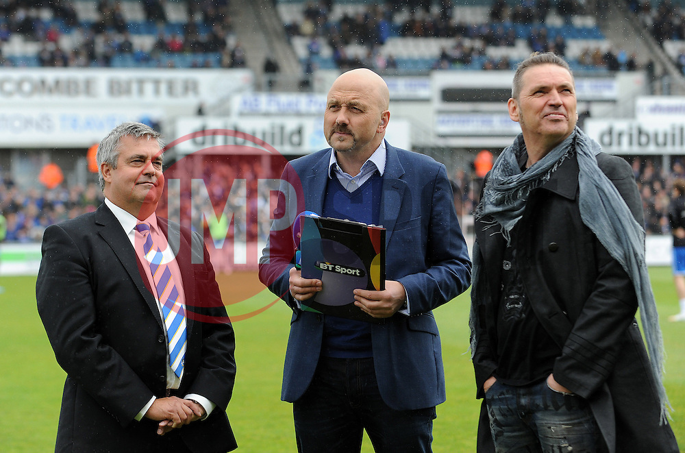 Nick Higgs and Dale Vince - Photo mandatory by-line: Neil Brookman/JMP - Mobile: 07966 386802 - 03/05/2015 - SPORT - Football - Bristol - Memorial Stadium - Bristol Rovers v Forest Green Rovers - Vanarama Football Conference