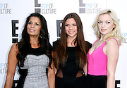 Dina Eastwood, Morgan Eastwood and Francesca Eastwood attend the E! Network Upfront event at Gotham Hall in New York City, New York on April 30, 2012.