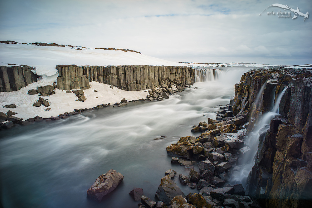 Selfoss waterfall (just upstream from Dettifoss). Iceland. Shot with Sony A7R, Voiglander Ultron 21mm/1.8. B+W 10-stop ND filter.