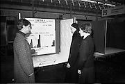 03/01/1967.01/03/1967.3rd January 1967.The third annual Aer Lingus Young Scientist Exhibition at the RDS..Aine Ni Mhurnain from Clocher Lughaidh Monaghan shows her exhibit 'Eifeacht Gaethe X ar Pheacu agus Fas Siolta' to a sister and pupil, Siobhan Maire Ni Dhubhghaill from St Louis, Rathmines Dublin